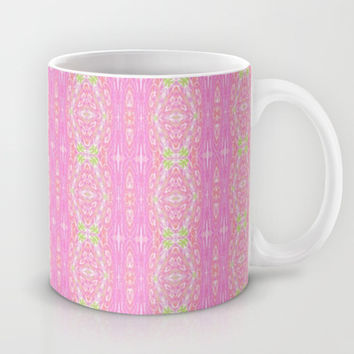 Pretty Pink And Green Abstract  Mug by KCavender Designs