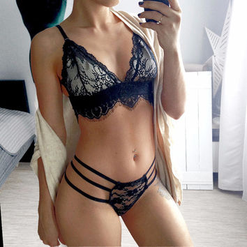 Hot Deal On Sale Cute Sexy Bikini See Through Exotic Lingerie [10236788748]