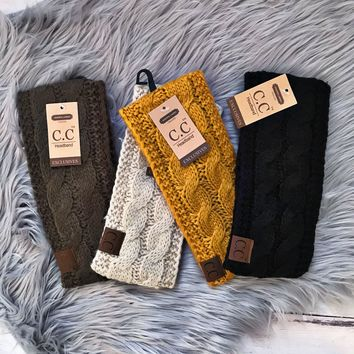 CC Cable Knit Ear Warmer