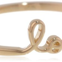 "Shy by SE ""Love"" Ring with Diamond Bezel"