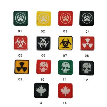 Personality Jewelry Resident Evil Crisis Series Pvc Armband Hat Bag Clothing Personality Military Badge Waterproof Different Siz