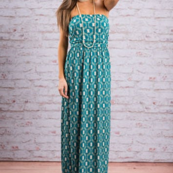 Beach Bliss Maxi Dress, Teal