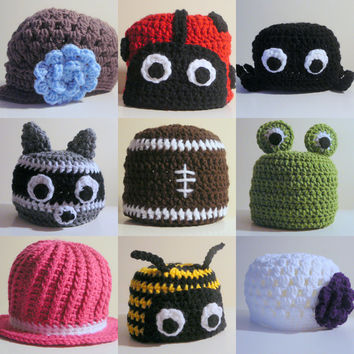 Choose any 3 hat patterns for 12