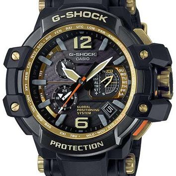 Casio Mens G-Shock - Atomic - Black Case & Strap - 200M - GPS - Solar Power