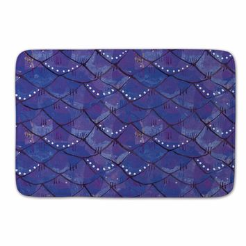 Autumn Fall welcome door mat doormat Mermaid  Outdoor,Fish Scale  for Entrance Door,Beach Bathroom Carpet,Purple Kitchen Floor Carpet,Kids Room Carpet AT_76_7