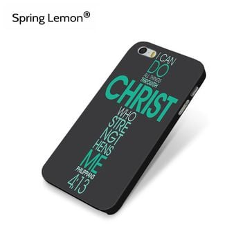 Bible Philippians Jesus Christ Christian Hard Protect Cell Phone Case For iPhone 4 4s 5 5s 5c SE
