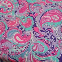 2 yards, 22 inches Original by Suzie Zuzek (dePoo) Fabric, Key West Hand Print, Lilly Pulitzer Shift - $125.00 - Vintage Items and Unique Gifts by Myeuropeantouch