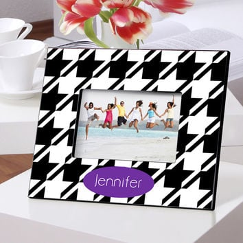 Personalized Color Bright Frames - Houndstooth