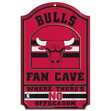 Chicago Bulls No Offseason 11x17 Wood Fan Sign