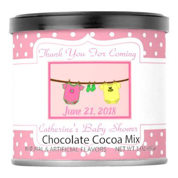 Hot Cocoa Baby Shower Thank You Favor Hot Chocolate Drink Mix