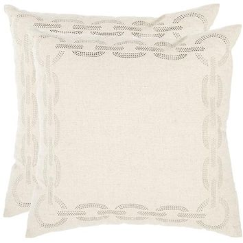 Chainlink Pillow - Set of 2 - Decorative Pillows - Linens & Fabrics | HomeDecorators.com
