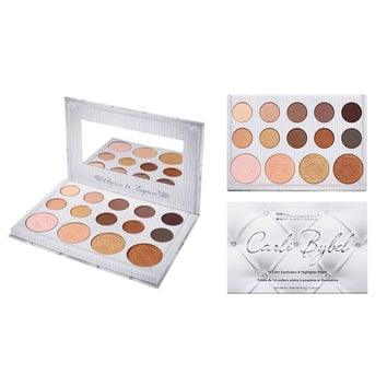 BH Cosmetics Makeup Eye Shadow Palette 14 Colors for  Matte Glitter Eyeshadow Carli Bybel 14 Color Eyeshadow & Highlighter