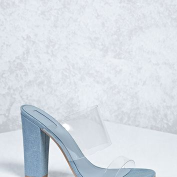 Translucent Denim Heels