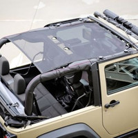 Rugged Ridge Eclipse Sun Shade, Black; 07-16 Jeep Wrangler JK, 2 Door