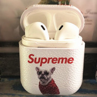 SUPREME AirPods Case Cover Bluetooth Wireless Earphone Protector