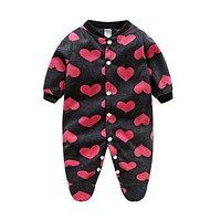 Brands Baby Clothes Costumes Fleece For Newborn Baby Clothes Boy Girl Romper Baby Clothing Overalls Jumpsuit Winter Clothes