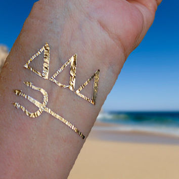 Sorority Tattoos, Sorority Gifts, Tri Delta Sorority Gifts, Gold Jewelry Tattoos Tri Delta