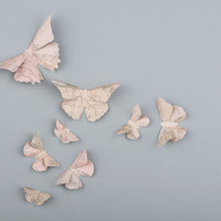 3D Butterfly Wall Art: 10 Vintage Map Paper Butterflies for Wall Decor, Nursery, Children's Room