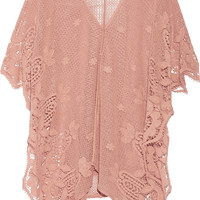 Miguelina - Gaby crocheted cotton kaftan