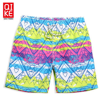Board shorts geometric elastic mens swimming trunks bermudas masculina de marca surf swimwear plavky swim short gym beach surf