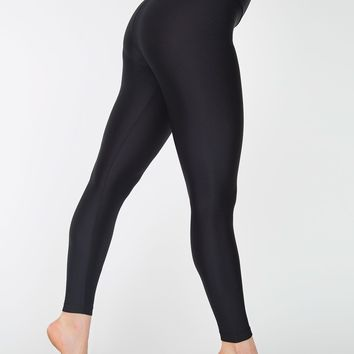 rnt349 - Nylon Tricot High-Waist Leggings