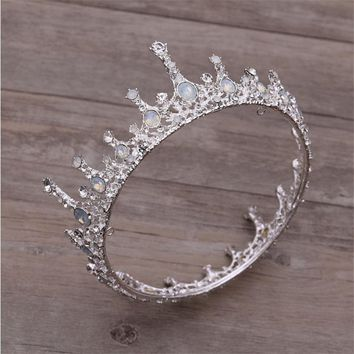 Bride Crown Wedding Hair Accessories Queen King Tiaras and Crowns Bridal Wedding Headdress Tiaras for Women Hair Jewelry