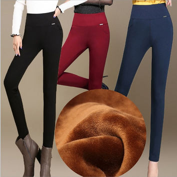 Hot Sale Women Thicken Warm Leggings Womens Winter Clothes Plus Size Pants = 1715785796