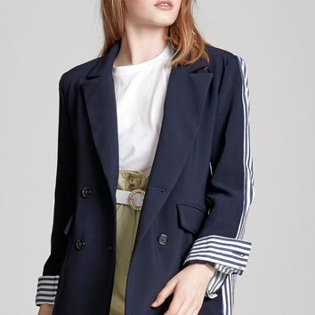 Mia Stripe Mix Jacket Discover the latest fashion trends online at storets.com