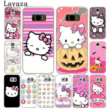 Lavaza Fashionable Hello Kitty cute Hard Style Phone Shell Case for Samsung Galaxy S7 S6 Edge S3 S4 S5 S8 S9 Plus Cover
