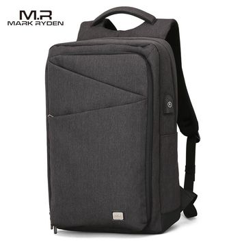 MARK RYDEN New Backpack Men Backpack High Capacity Bag for Travel USB Charging Bag 15.6inch Laptop Backpack for College Students