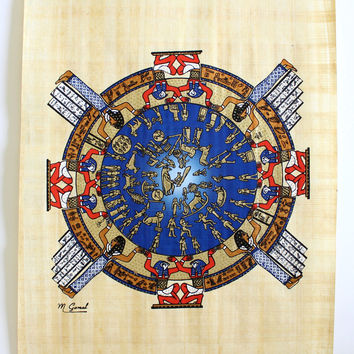 Dendera Zodiac | Ancient Egyptian Papyrus Painting
