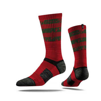 Strideline® Assembly Nightmare, Strapped Fit 2.0, Red Black Crew Socks, NEW