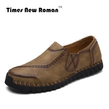 Men's Leather Casual Men Shoes Slip-on Shoes For Men flats Moccasins