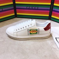 GUCCI Ace leather sneaker with crystals