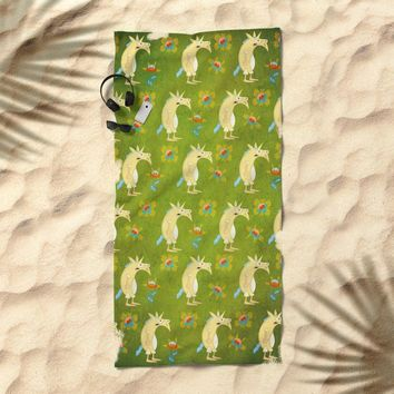 Flowers & Unicorns Beach Towel by That's So Unicorny