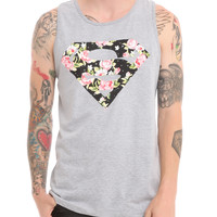 DC Comics Superman Floral Logo Tank Top