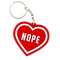 Nope Heart Keychain