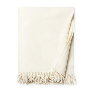 Vimmo Ivory Wool Throw