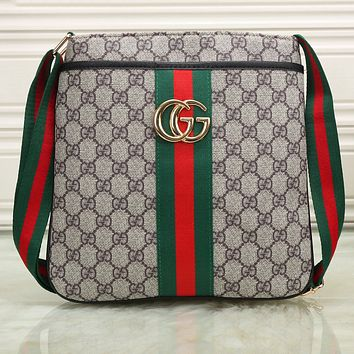 Gucci Men Shopping Leather Tote Crossbody Satchel Shoulder Bag G-KSPJ-BBDL