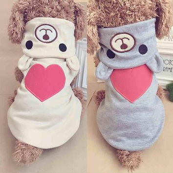 Spring Puppy Coat Hoodies for Small Pet Dogs Clothes Teddy Chihuahua Clothes Funny Costumes Ropa de Cachorro 3