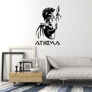 Vinyl Wall Decal Athena Ancient Greek Goddess Antiquity Greece Home Interior Stickers Mural (ig5683)