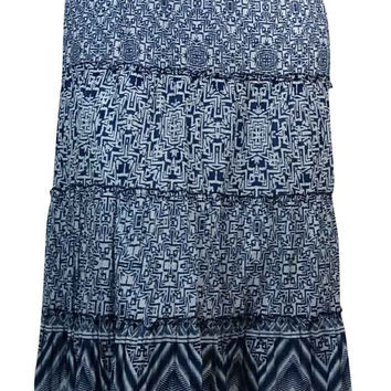 Style & Co. Women's Printed Tiered Cotton Midi Skirt