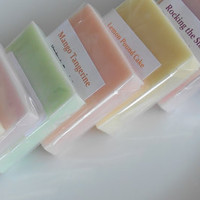 Soap Sample Sale - 20 x 1 oz Handmade Glycerin Soaps - Hostess Gift - Childrens Soaps - Guest Soaps