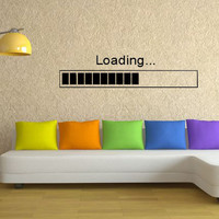 Loading Bar Wall Decal Sticker Art
