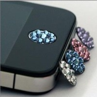 iPhone 4/4s/5 iPad home button bling sticker