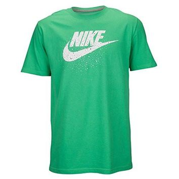 Nike Men's Futura Icon Speckles Logo T-Shirt Medium Gamma Green White
