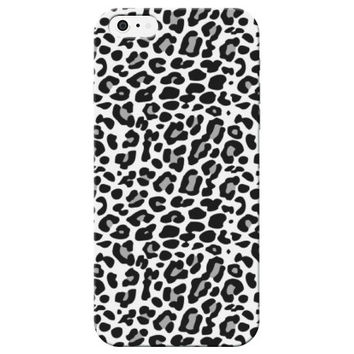 White Cheetah Print Phone Case