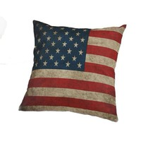 American Flag Decorative Cushion Throw Pillow Cover