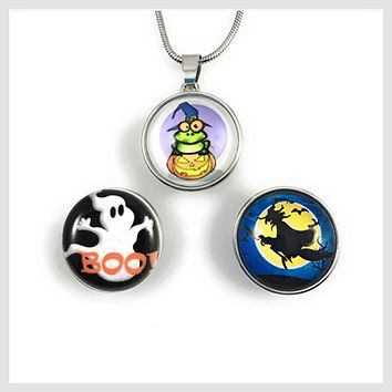 Halloween Set Pendant + 3 Snaps 20mm