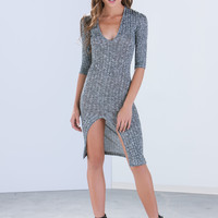 Ribbed And Dangerous Knit Dress